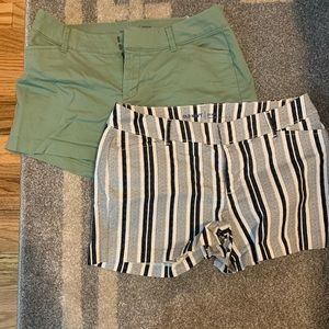 Two pairs of Old Navy Pixie Shorts Size 4 EUC